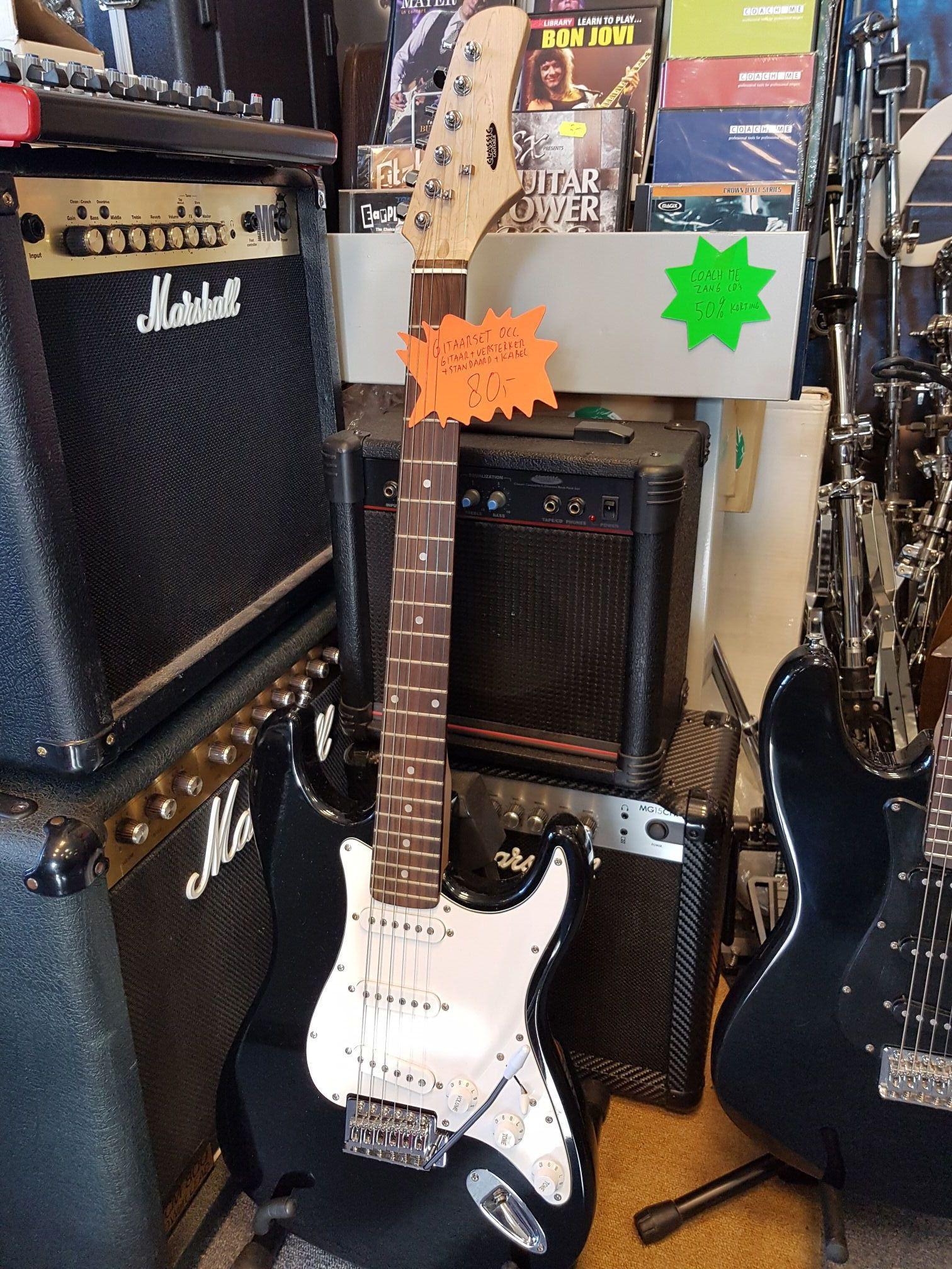 Sjonniegitaar Muziekdiscount Comet Epiphone Guitar Amplifier Schematic Cantabile Complete Gitaarset Beginners Elektrische Inclusief Versterker Jack Kabel En Standaard Gitaar Met Volume 2 X